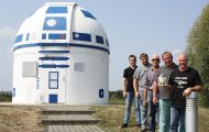 R2D2 Fan Star Wars Paints building